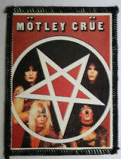 MOTLEY CRUE Pentagram Original Vintage 1980`s Sew On Patch/Photopatch