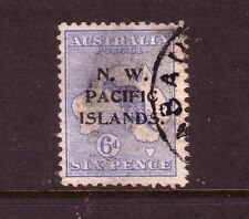 NORTH WEST PACIFIC Is....  1915  6d blue used, Sg78, type C opt....cv £95