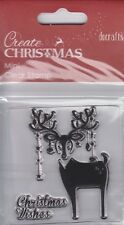 REINDEER WITH BAUBLES - MINI CLEAR STAMP - DOCRAFTS CREATE CHRISTMAS