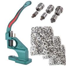Grommet machine tool + 3 die #0 #2 #4 900 grommets Silver Eyelet Banner EH7E