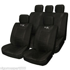 Tirol Universal Faux Leather Front Rear Car Seat Covers For Crossovers SUV Black