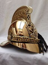 Brass Fireman Helmet British Victoria Chief Officers Armour Armor Helmet Larp