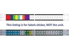 Custom front panel labels sticker for patchbay Behringer  ULTRAPATCH PRO PX3000