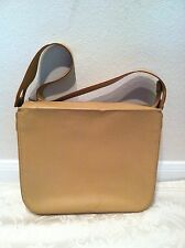 Salvatore Ferragamo Italy Authentic Nude Leather Box Shape Shoulder Handbag