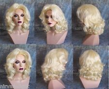 Light Blonde Lots of Volume Medium Length Drag Queen? Womens Wig
