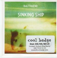 (EB523) Balthazar, Sinking Ship - 2013 DJ CD