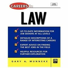 NEW - Careers in Law by Gary A. Munneke