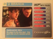 Grenade Pen Goldeneye #21 Q Branch - 007 James Bond Spy Files Card