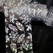 1pce Holographic Nail Art Tip Foil Wrap Leaves Transfer Sticker Polish Decal CA