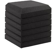6 PCS Acoustic Curved Foam for Recording Room Sound-proof Panel