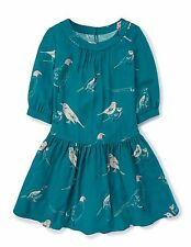 BODEN  NWT Pretty Tunic Dress - Green Bird Print - UK 12 L