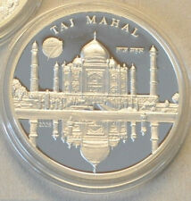 2008 Mongolia Large Proof 100 T World Wonders-Taj Mahal