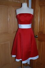 SHORT STAIN RED/WHITE EDEN 7225 DESTINATION/BEACH/RECEPTION BRIDAL GOWN SIZE 4