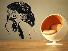 Wall Room Decor Art Vinyl Sticker Mural Decal Sexy Tattoo Girl Big Large AS1065