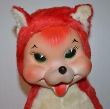 1950's/ 1960's Vintage Rubber Face Red FOX Plush 11 inches tall -RARE