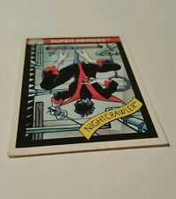 Marvel universe 1990  toy biz  promo card  nightcrawler