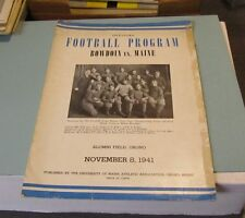 1941 Bowdoin vs. Maine College Football Game Program 1901 Maine Team Cover Photo