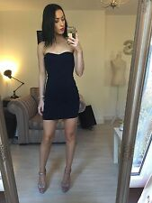French Connection Bodycon Strapless Blue Dress Small 6 8