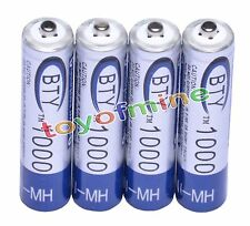 4pcs BTY 1.2V 1000mAh AAA Rechargeable Ni-MH Battery