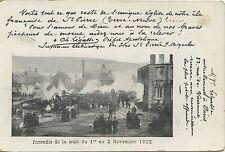 CARTE POSTALE / POSTCARD SAINT PIERRE ET MIQUELON / TERRE NEUVE INCENDIE 1902