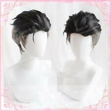 Japan Anime Wig Cosplay Pale hair YURI!!! on ICE Slicked-back Otabek ALTIN aota