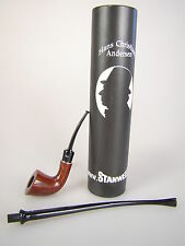 Stanwell pipe pipa hans christian andersen churchwarden lectura pipa mod 6 marrón