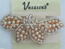 60% OFF! UNSASENB INTRICATE SIMULATED PEARLS W/ RHINESTONES HAIR CLIP #10 P198
