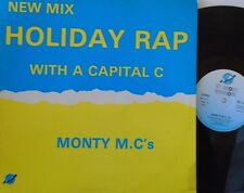 "MONTY MCS - Holiday Rap With A Capital C - 12"" Single PS SPANISH PRESS"
