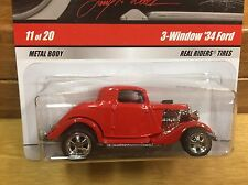 Hot Wheels 2009 Larry's Garage '34 Ford Coupe Red w/RR Real Riders