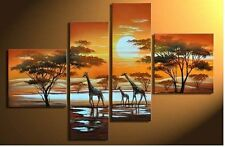 Huge Hand-painted Abstract Art Oil painting Wall Decor Canvas (No Frame) giraffe