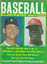 1969 BASEBALL ILLUSTRATED vintage sports magazine BOB GIBSON - DENNY MCLAIN