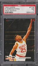 1993 Hoops Face to Face Scottie Pippen Robert Horry PSA 7  *