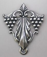 #3389 ANTIQUED SS/P CELTIC GRAPE DESIGN BROOCH - 1 Pc Lot