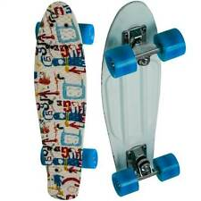"22"" Penny Style Board Graphic Retro Mini Cruiser Complete Skateboard"