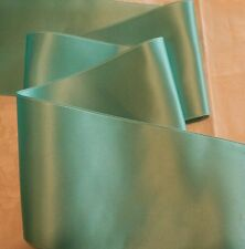 """4"""" WIDE SWISS DOUBLE FACE SATIN RIBBON- AQUA -  BY THE YARD"""