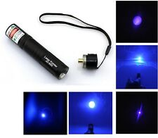 New Military Powerful Blue Purple Laser Pointer 1mw 532nm Pen Light UK JD-850