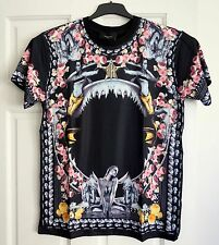 GIVENCHY T-shirt Givenchy Shark Jaw with Marmaid in Flowers print Black