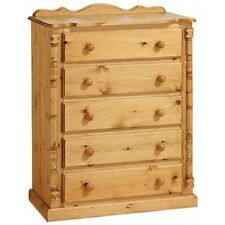 PINE FURNITURE SANDRINGHAM 5 DRAWER CHEST NO ASSEMBLY REQUIRED!!!