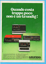(AM)DOMCOR978-PUBBLICITA'/ADVERTISING-1978- GRUNDIG SONO CLOCK 650/250/550/350