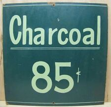Old Charcoal 85c Sign Bait Shop Lakeside Country Store orig folk art advertising