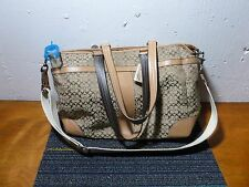 Coach Signature Diaper Bag Multi-function Tote Very Good Pre Owned Condition!