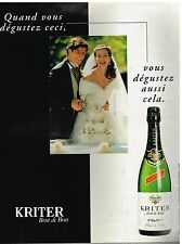 Publicité Advertising 1997 Le Vin Blanc de Blancs Kriter
