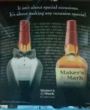 Makers mark  acrylic formal dressed sign new and unused