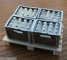 Borden's Milk Crates (4) with Pallet for your Model Train Scenery