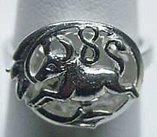 LOOK TAURUS Zodiac Astrology sign Jewelry ring Genuine Authentic Sterling Silver