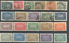 Germany -set of INFLATION great numbers 1922 used + mint Mi.Nr.248-256 ** o