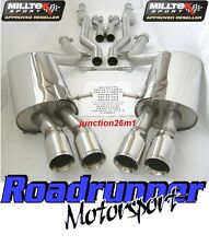 Milltek Audi S4 B7 Exhaust System Stainless Cat Back Non Res Louder SSXAU048