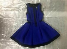 "BNWT LADIES "" RIVER ISLAND "" BLUE ZIP FRONT SCUBA SKATER DRESS - UK 8 ! RRP £50"