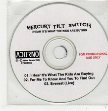 (FF849) Mercury Tilt Switch, I Hear It's What The Kids Are Buying - 2003 DJ CD