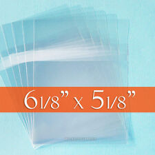 100 Cello Bags, 6 1/8 x 5 1/8 CD Jewel Case Sized Clear Packaging, Tape on Body